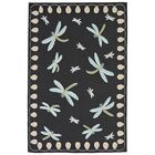 Calderon Dragonfly Hand-Tufted Black Indoor/Outdoor Area Rug Rug Size: 7'6