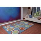 Deontae Circles Hand-Tufted Blue Indoor/Outdoor Area Rug Rug Size: 8' x 10'