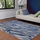 Nancee Marble Hand-Tufted Blue/Beige Area Rug Rug Size: Rectangle 8'3