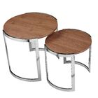 Furtado 2 Piece Nesting Tables Color: Walnut
