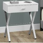 1 Drawer Nightstand Color: White