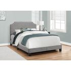 Larochelle Upholstered Panel Bed Size: Full, Color: Gray with Chrome Trim