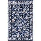Smithsonian Hand-Tufted Blue/Black Area Rug Rug Size: Runner 2'6