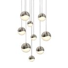 Grapes? 9-Light Pendant Size: Small, Finish: Satin Nickel