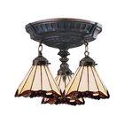 Du Bois 3-Light Semi-Flush Mount Bulb Type: LED 13.5W 800 Lumens