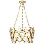 Edward 3-Light Geometric Pendant Finish: Modern Brass/White Marble