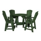 Patricia Traditional 5 Piece Dining Set Finish: Turf Green