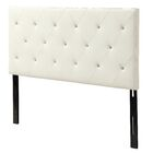 Areswell Crystal Diamond Tufted Upholstered Headboard Size: Eastern King, Upholstery: Black