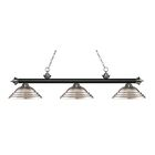 Zephyr 3-Light Cone Shade Billiard Light Shade Color: Brushed Nickel, Finish: Matte Black / Brushed Nickel
