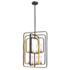Kewdale 8-Light Square/Rectangle Chandelier Finish: Bronze Gold
