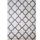 Synergy White/Blue Area Rug Rug Size: Rectangle 7'9