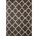 Synergy Dark Gray/White Area Rug Rug Size: Rectangle 5'2