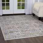 Kenmare Gray/Oat Area Rug Rug Size: 5'3