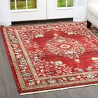Ridgefield Red Area Rug Rug Size: Rectangle 5'2