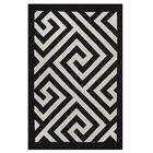 Metro Broadway Black/White Rug Rug Size: 3' x 5'