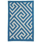 Metro Broadway Hand Woven Cotton Blue/White Area Rug Rug Size: 4' x 6'