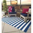 Nantucket Hand Woven Blue/White Indoor/Outdoor Area Rug Rug Size: Rectangle 3' x 5'