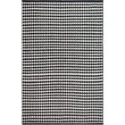 Zen Hand-Woven Black/White Area Rug Rug Size: 6' x 9'