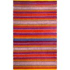Zen Hand-Woven Red Area Rug Rug Size: 5' x 8'
