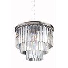 Lavinia 6-Light Crystal Chandelier Finish: Polished Nickel, Crystal: Silver Shade (Grey)