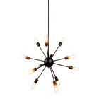 Ashe 12-Light Sputnik Chandelier Finish: Vintage Steel, Size: 67.5