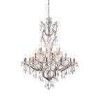 Newell 25-Light Candle Style Chandelier Shade Color: Clear, Finish: Rustic Intent