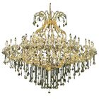 Regina 49-Light Up Lighting Royal Cut Candle Style Chandelier Finish / Crystal Finish / Crystal Trim: Chrome / Golden Teak (Smoky) / Strass Swarovski