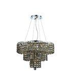 Bratton Modern 9-Light Chandelier Crystal Color / Crystal Trim: Silver Shade (Grey) / Royal Cut