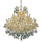 Regina Traditional 24-Light Chain Candle Style Chandelier Finish / Crystal Finish / Crystal Trim: Gold / Crystal (Clear) / Strass Swarovski