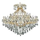 Regina 49-Light Candle Style Chandelier Finish / Crystal Finish / Crystal Trim: Chrome / Golden Teak (Smoky) / Royal Cut