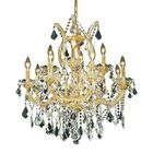Regina Traditional 13-Light Candle Style Chandelier Finish / Crystal Finish / Crystal Trim: Gold / Crystal (Clear) / Royal Cut
