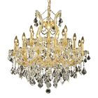 Regina Traditional 19-Light Candle Style Chandelier Finish / Crystal Finish / Crystal Trim: Chrome / Crystal (Clear) / Strass Swarovski