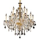 Schroeppel Traditional 12-Light Candle Style Chandelier with Chain Color: Gold, Crystal Trim: Royal Cut