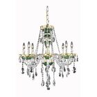Schroeppel Traditional 8-Light Candle Style Chandelier Color: Green, Crystal Trim: Spectra Swarovski