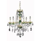 Schroeppel Traditional 6-Light Candle Style Chandelier Color: Green, Crystal Trim: Strass Swarovski
