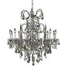 Cherie 12-Light Candle Style Chandelier Finish / Crystal Finish / Crystal Trim: French Gold / Crystal (Clear) / Strass Swarovski
