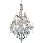 Petties 25-Light Candle Style Chandelier Crystal Grade: Egyptian, Color: Gold
