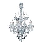 Petties 15-Light Candle Style Chandelier Color: Chrome, Crystal Grade: Elegant-Cut