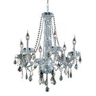 Petties 6-Light Candle Style Chandelier Color: Chrome/Golden Teak, Crystal Grade: Egyptian