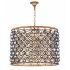 Morion 8-Light Pendant Crystal Color: Gray