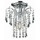 Lasher 1-Light Semi Flush Mount Fixture Finish: Chrome, Crystal Grade: Swarovski Element