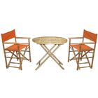 3 Piece Bistro Set Color: Orange