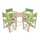 5 Piece Dining Set Color: Green