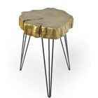Buzzard Rustic Crosscut Treed Table Color: Gold