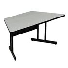 60'' W Height Adjustable Training Table with Modesty Panel Tabletop Finish: Black Granite