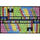 Fun Time Keyboard Kids Rug Rug Size: 5'3