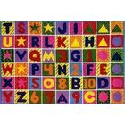 Supreme Numbers and Alphabet Area Rug Rug Size: 8' x 11'