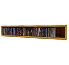 Multimedia Storage Rack Color: Clear, Size: 6.75