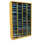 Multimedia Storage Rack Color: Dark, Size: 39.44