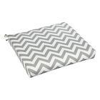 Bree Indoor/Outdoor Dining Chair Cushion Fabric: Grey Chevron, Size: 19